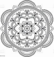 Arabische Muster Malvorlagen Xing Schwarze Blume Mandala Orientalische Muster