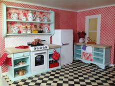 Dollhouse Kitchen Furniture Once Upon A Doll Collection Shabby Chic Kitchen