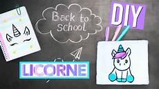 Diy Back To School Licorne Fournitures Scolaires Kawaii