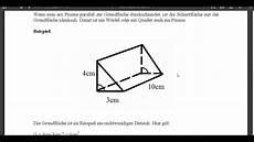 volumen und oberfl 228 che prisma
