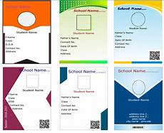 student id card template cdr id card software identity card maker software student