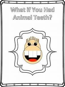 animal teeth worksheets 14367 what if you had animal teeth craftivity template tpt