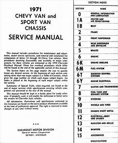 manual repair autos 1994 chevrolet g series g10 navigation system 1971 chevrolet van shop manual chevy repair service book sportvan g10 g20 g30 ebay