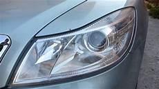 changing headlight beam bulb h7 skoda octavia 2 audio
