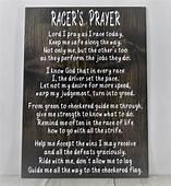 Racing Sign Racers Prayer Decor Wood