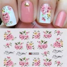 20 Fleur Water Decal Stickers Ongles Nail
