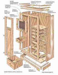 costruire un armadietto disegno esploso di un armadio armadi mobili wood