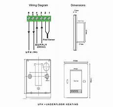 touch screen underfloor heating thermostat floor probe ebay