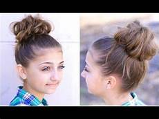 bun 2 cute hairstyles youtube