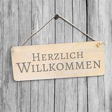 Holzschild Herzlich Willkommen K L Wall Wall De