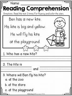 printable worksheets for beginners 19295 free kindergarten reading comprehension edition tpt