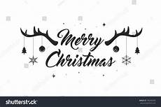 merry christmas text vector illustration lettering stock vector 746340028