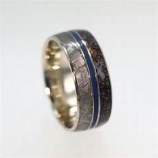dinosaur bone meteorite and blue enamel men s wedding