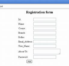 source code for registration form in html html code for registration form