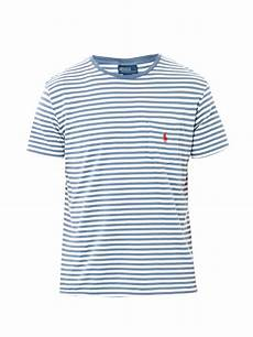 lyst polo ralph stripe pocket tshirt in blue for men