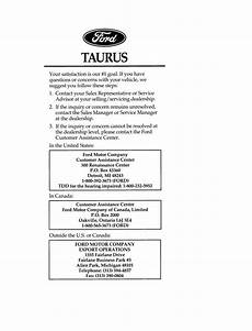 auto repair manual free download 1997 ford taurus on board diagnostic system ford taurus 1996 owner s manual pdf online download