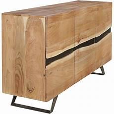 sideboard akazie finebuy sideboard massivholz akazie 150 cm anrichte
