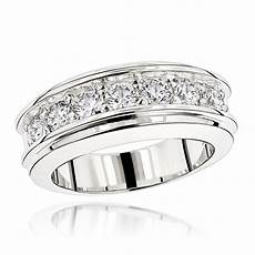 luxurman rings unique men s diamond wedding band in 14k