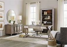 home office furniture wood rustic glam light wood trestle home office set from hooker