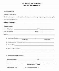 sle verification of employment form 10 exles in pdf word