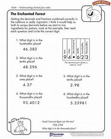 place value of decimals worksheets for grade 4 5401 the enchanted forest 4th grade understanding decimal place value may take a time for