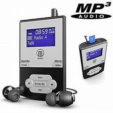 portable pocket personal dab digital fm radio