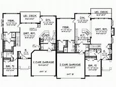 single story duplex house plans plans floor plan duplex condo one story house plans 39479