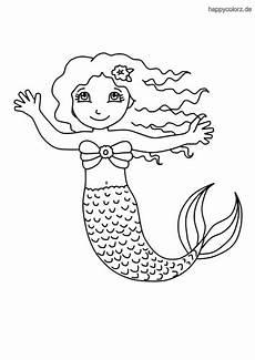 Malvorlage Meerjungfrau Kostenlos Ausmalbilder Meerjungfrauen