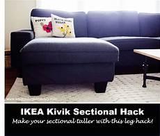 My Ikea Kivik Sectional Grows Up Ikea Hacks Ikea