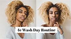 full 4c natural hair wash day routine pre treatment shoo deep condition and flat twist