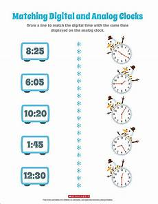 time worksheets matching digital to analog 3088 practice telling time by matching the clocks scholastic parents