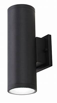 cloudy bay lowlud418850bk led outdoor wall fixture 18w 1260lumens 5000k daylight up and down