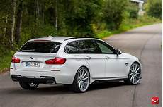White Bmw 5 Series Touring Puts On 22 Quot Wheels Carscoops