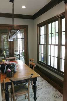 image result for best colors to paint with cherry trim dark dining room dark trim white