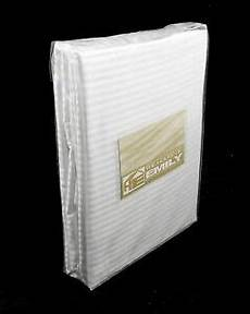 100 cotton striped single fitted sheet white 10 quot deep 220tc fully elasticated ebay