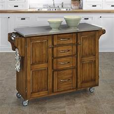 shop home styles brown scandinavian kitchen carts at lowes com