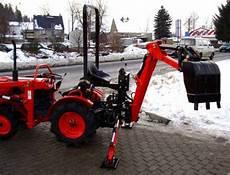 Traktor Gebraucht Ebay - kleintraktor allrad traktor kubota b7001d mit heckbagger