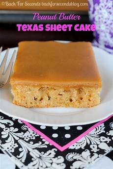 the best peanut butter sheet cake back for seconds