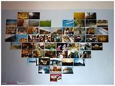 herz fotowand wohnung ideen wohnen