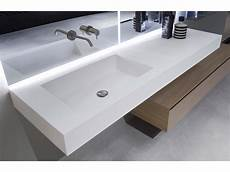 flumood 174 washbasin with integrated countertop nido by