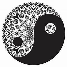 yin and yang mandala vector premium