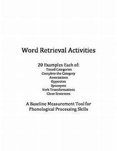 word finding worksheets slp speech language therapy