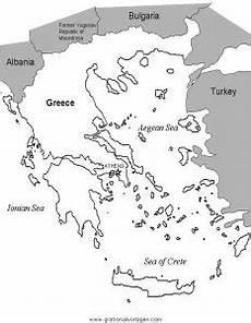 landkarte griechenland 2 gratis malvorlage in geografie
