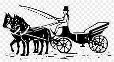 Pony And Buggy Carriage Wagon Gambar Siluet Kereta