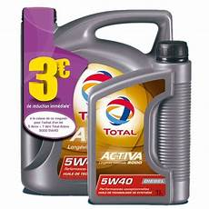 huile moteur total activa 9000 5w40 diesel feu vert