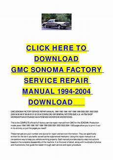 free service manuals online 2002 gmc sonoma on board diagnostic system gmc sonoma factory service repair manual 1994 2004 download by cycle soft issuu