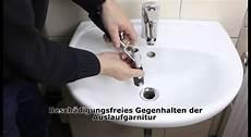 ablaufgarnitur waschbecken montieren sinkfix 9tlg waschtisch montage satz