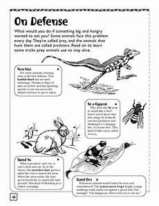 animal adaptations worksheets middle school 13966 predators and prey worksheets printables scholastic parents