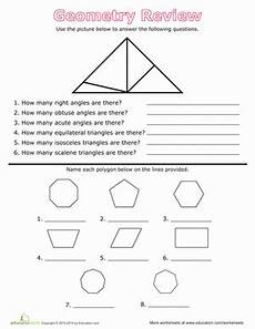 geometry review worksheets with answers 878 geometry review angles and polygons worksheet education