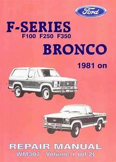 auto manual repair 1986 ford f series navigation system ford f100 f250 f350 bronco 1981 1986 factory repair manual ford australia